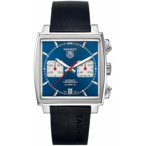 Tag Heuer Men's CAW2111.FT6005 'Monaco' Black Rubber Watch