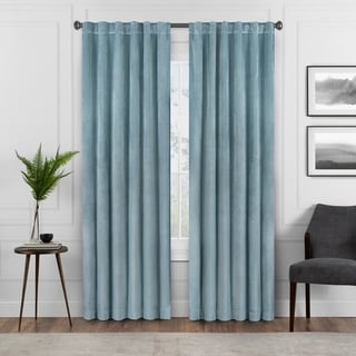 Link to Eclipse Harper Velvet Absolute Zero Blackout Window Panel Similar Items in Blackout Curtains