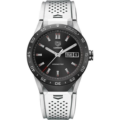 Tag Heuer Men's SAR8A80.FT6056 'Connected' Smartwatch Android White Rubber Watch