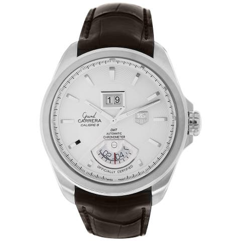 Tag Heuer Men's WAV5112.FC6231 'Grand Carrera' Automatic Brown Leather Watch