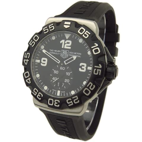 Tag Heuer Men's WAH1010.FT6026 'Formula 1' Black Rubber Watch