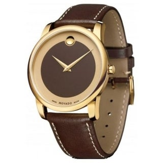 Link to Movado Men's 0606880 'Museum' Brown Leather Watch Similar Items in Men's Watches