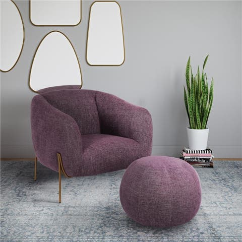 CosmoLiving by Cosmopolitan Kiara Accent Chair and Ottoman Set