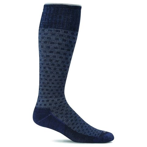 Sockwell Mens Shadow Box Socks - Navy - Medium/Large