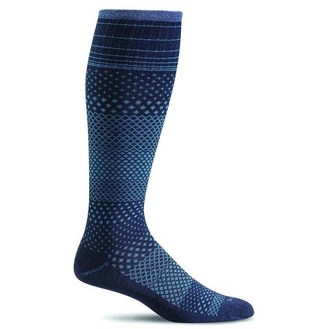 Sockwell Womens Micro Grade Graduated Compression Socks - Navy - Small/Medium