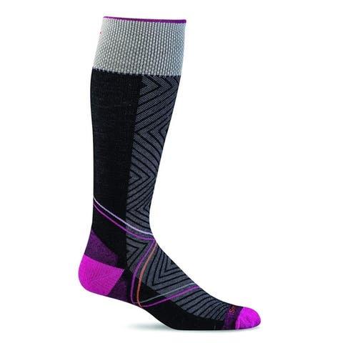 Sockwell Womens Pulse Graduated Compression Socks - Small/Medium - Black