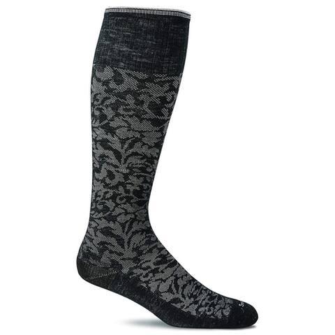Sockwell Womens Damask Socks - Black - Small/Medium
