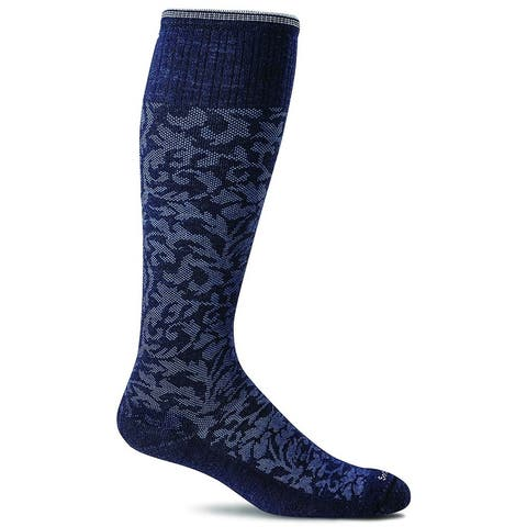 Sockwell Womens Damask Socks - Navy - Small/Medium