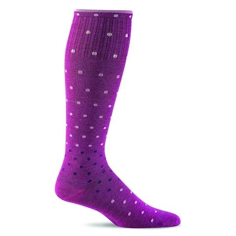 Sockwell Womens On The Spot Graduated Compression Socks - Violet - Medium/Large