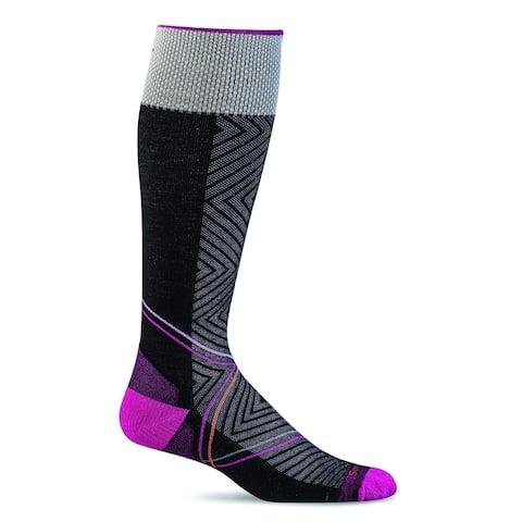 Sockwell Womens Pulse Graduated Compression Socks - Medium/Large - Black