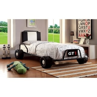 Williams Home Furnishing Power Racer  Twin Bed in Black Finish