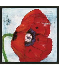 Gallery Direct Laura Gunn 'Poppies on Blue II' Framed Canvas Art