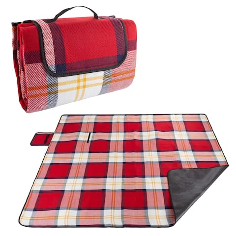 Waterproof Picnic Blanket with Foam Padding by Wakeman Outdoors - 80 x 70 x 1