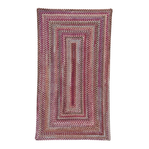 """Alliance Ruby Braided Rugs Concentric Rectangle Rug - 9' x 2' 3"""""""