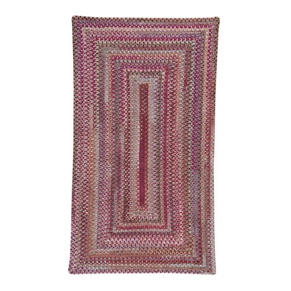 """Alliance Ruby Braided Rugs Concentric Rectangle Rug - 9' 6"""" x 9' 6"""""""