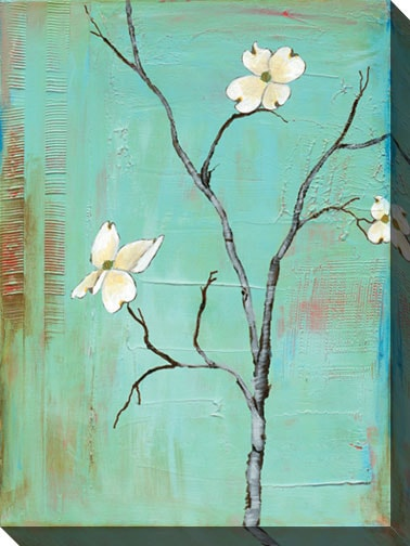 Gallery Direct Laura Gunn 'Dogwood on Turquoise I' Canvas Art