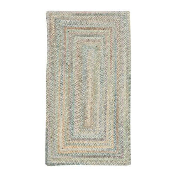 Alliance Moonstone Braided Rugs Concentric Rectangle Rug - 8' x 24""
