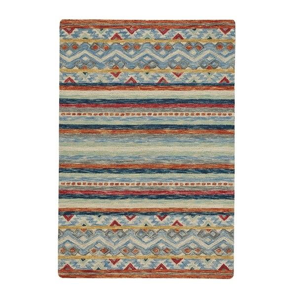 Shakta-Kelim Multitone Hand Tufted Rectangle Rug - 12' x 9'