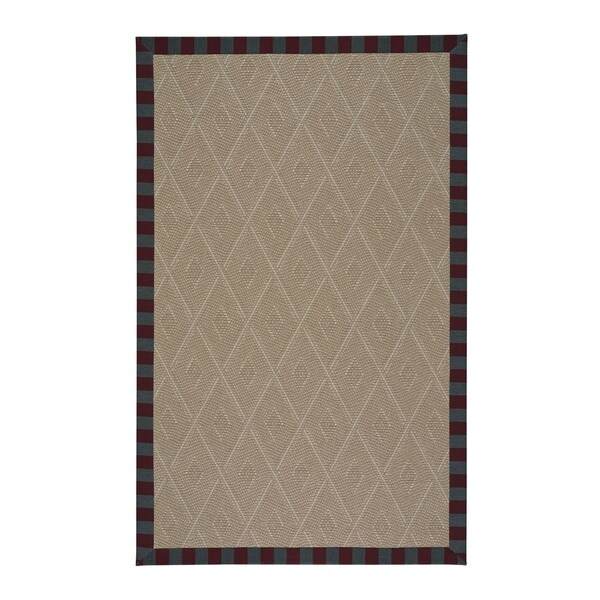 Biltmore Trellis Berry Machine Woven Rectangle Rug - 5' x 3'
