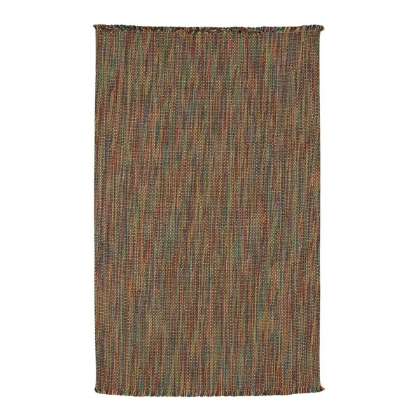 Coastal Multitones Flat Woven Vertical Stripe Rectangle Rug - 8' x 5'