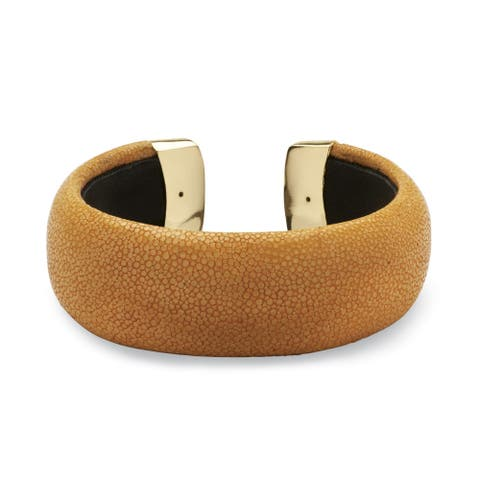 Goldtone Cuff Bracelet (21mm), Stingray 6.5 inches Adjustable