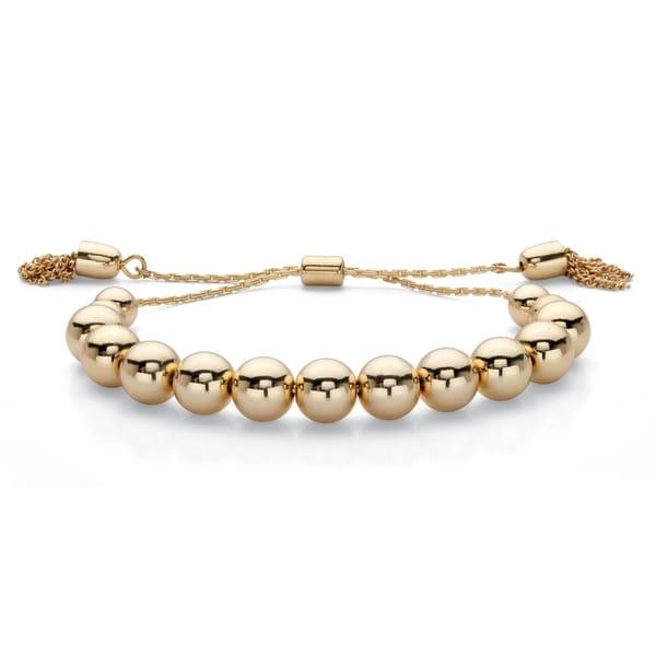 Goldtone Bolo Strand Bracelet (70mm), 7.25 inch Adjustable