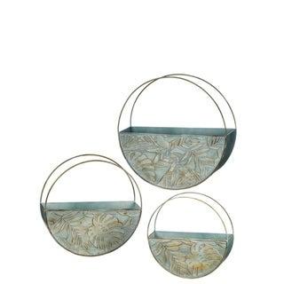 Metal Wall Pocket Planters - Set of 3