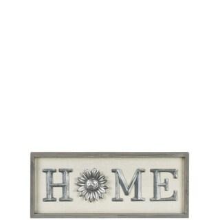Wood & Metal Home Sign