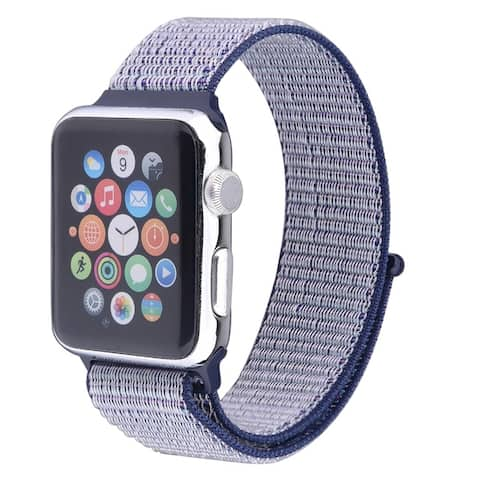 Nylon Sports Loop Breathable Weave Band for Apple Watch Series 1, 2, 3, 4, & 5