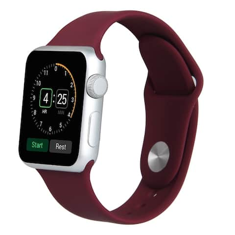 Silicone Sport Replacement Band for Apple Watch Series 1, 2, 3, 4, & 5