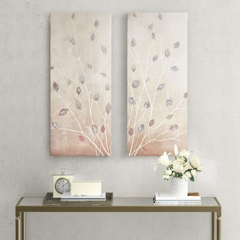 Madison Park Midday Glow Multi Hand Embellished Canvas Art 2 Piece Set