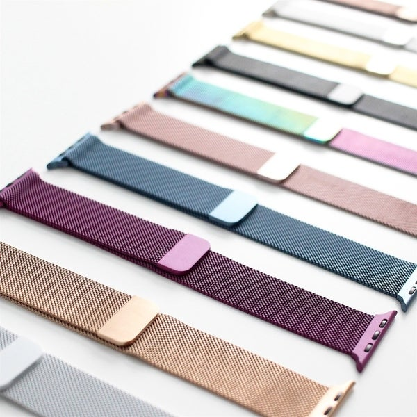 Stainless Steel Milanese Mesh Band Strap with Magnetic Closure for Apple Watch. Opens flyout.