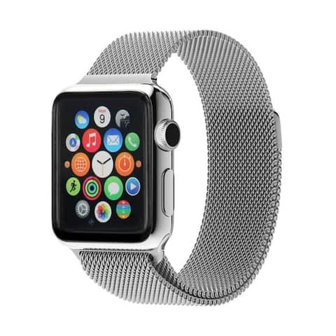 Stainless Steel Milanese Mesh Band Strap with Magnetic Closure for Apple Watch
