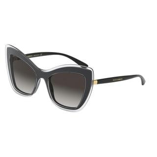 Dolce & Gabanna DG4364 53838G 54 Top Crystal On Black Woman Cat Eye Sunglasses