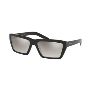 Prada PR 04VSF 1AB5O0 59 Black Woman Irregular Sunglasses