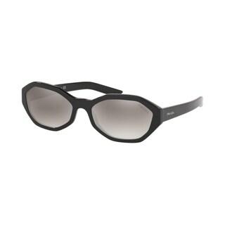 Prada PR 20VSF 1AB5O0 56 Black Woman Irregular Sunglasses