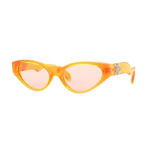 Versase VE4373 5311U8 54 Orange Fluo Transparent Woman Cat Eye Sunglasses