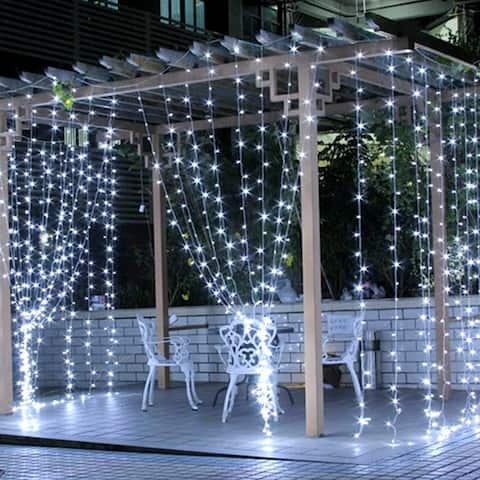 6M x 3M LED Light Romantic Christmas Wedding Outdoor Decoration Curtain String Light