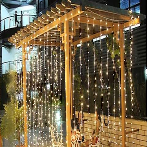 18M x 3M LED Light Romantic Christmas Wedding Outdoor Decoration Curtain String Light