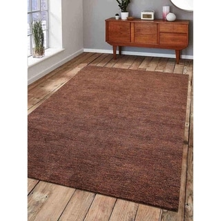 Indian Solid Color Handmade Gabbeh Modern Area Rug Oriental Carpet