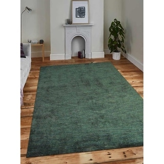 Modern Hand Made Gabbeh Area Rug Solid Color Indian Oriental Carpet