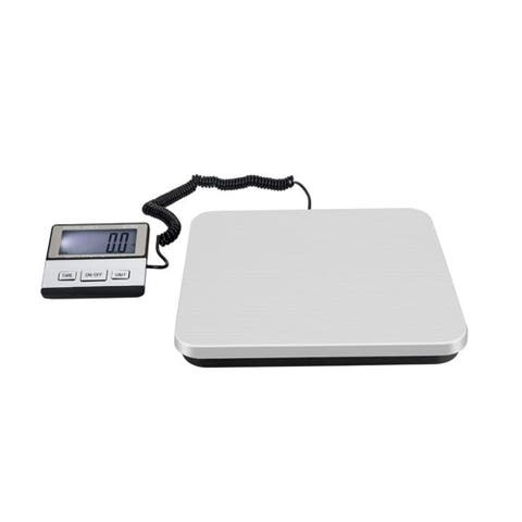 200KG/50G SF-888 White Backlit LCD Plastic Electronic Scale Silver
