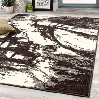 Castle Brown Ink Strokes Rug