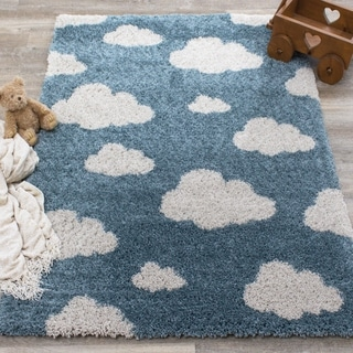 Novelle Kids Blue Cream Clouds Rug