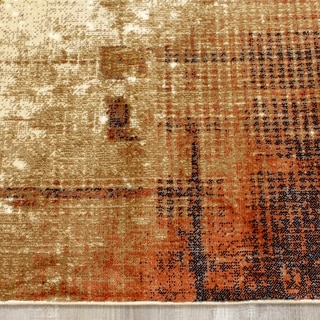 Salma White Cool and Warm Blended Colours Rug