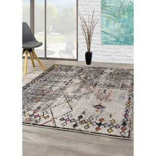 Sander Cream Grey Deftly Diamond Rug