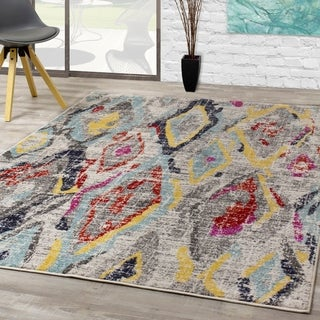 Sander Cream Grey Eclectic Gem Rug