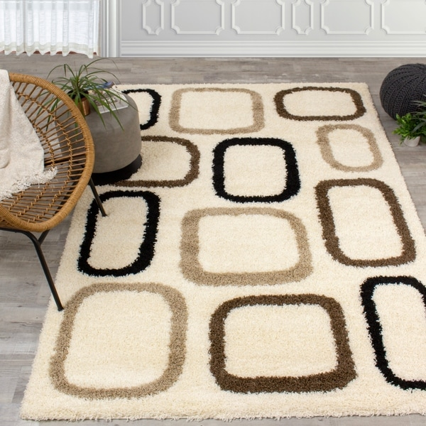 Sylvan Cream Blocks Pattern Rug
