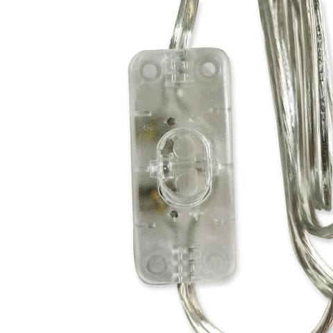 Royal Designs 8 Foot Long Silver-colored Inline Toggle Switch Replacement Lamp Cord, SPT-1 with Molded Plug