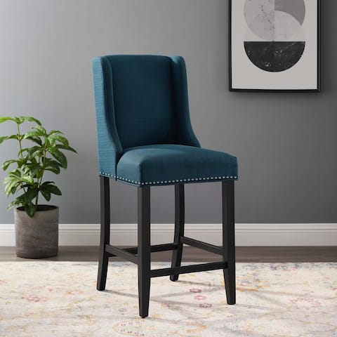 Baron Upholstered Fabric Counter Stool